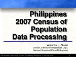 Philippines 2007 Census of Population Data Processing