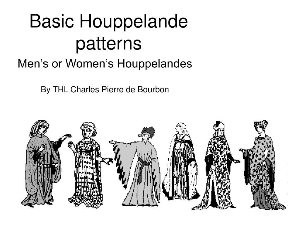 basic houppelande patterns l.