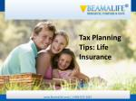 Tax Planning Tips Life Insurance