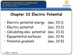 Chapter 23 Electric Potential