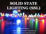 SOLID STATE LIGHTING (SSL)