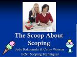 The Scoop About Scoping