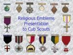 Religious Emblems Presentation to Cub Scouts