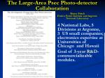 The Large-Area Psec Photo-detector Collaboration