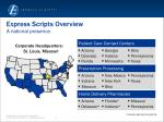 Express Scripts Overview A national presence