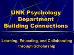 UNK Psychology Department Building Connections