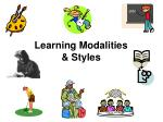 Learning Modalities & Styles