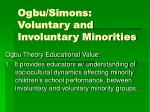 Ogbu/Simons: Voluntary and Involuntary Minorities