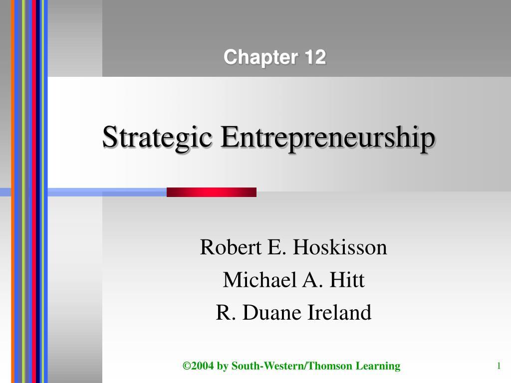 strategic entrepreneurship l.
