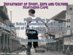 Department of Sport, Arts and Culture