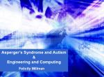 Asperger's Syndrome and Autism  & Engineering and Computing