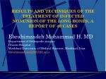 Results and techniques of the treatment of infected nonunion of the long bones, a report of 40 cases