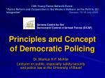 Principles and Concept of Democratic Policing