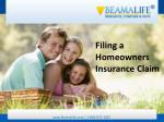 Filing a Homeowners Insurance Claim