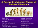 A Psycho-Evolutionary Theory of Outdoor Education