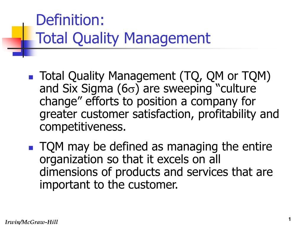 definition total quality management l.