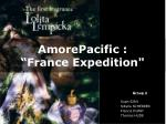 "AmorePacific : ""France Expedition"""