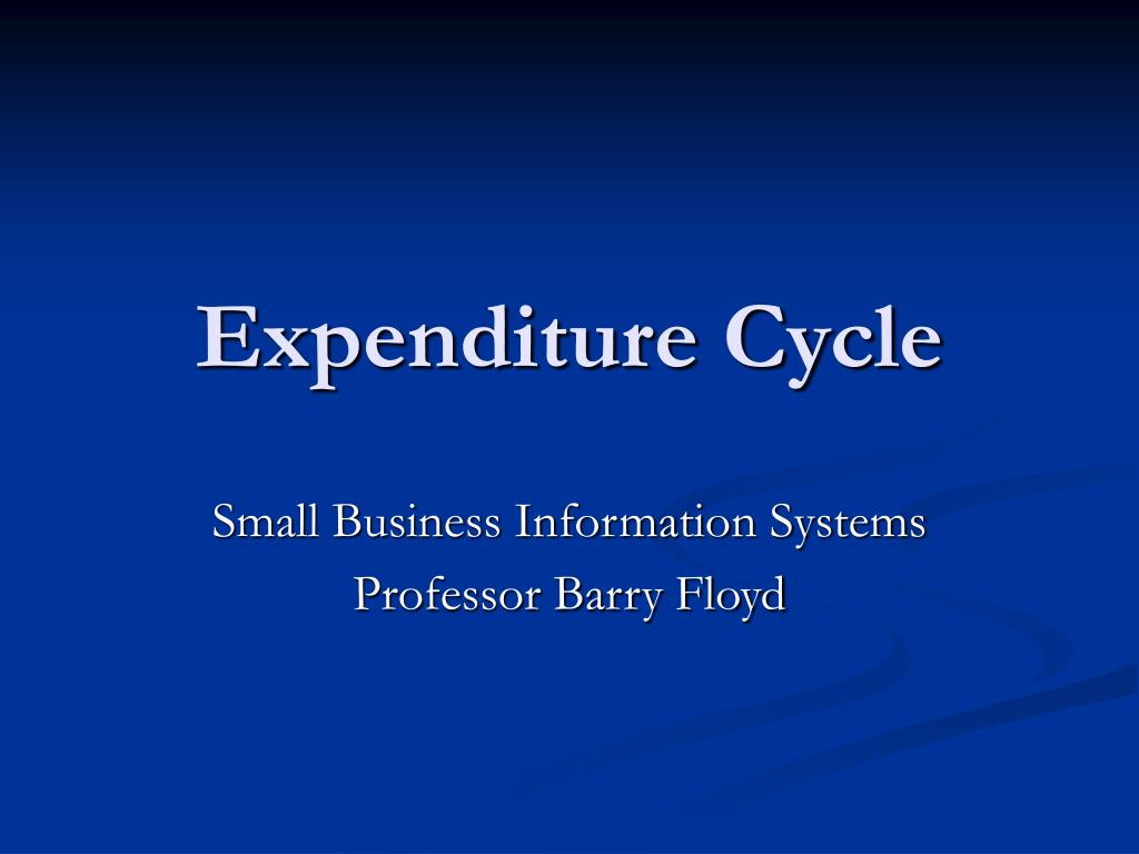 expenditure cycle l.