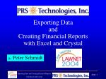 Exporting Data and Creating Financial Reports with Excel and Crystal