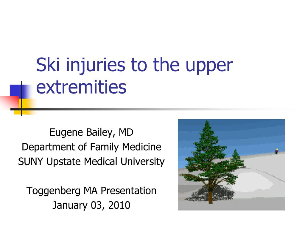 ski injuries to the upper extremities l.