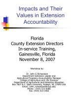 Impacts and Their Values in Extension Accountability