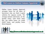 Instant Approval Loans- Online Loans- Loans