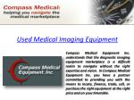 Used Medical Imaging Equipment