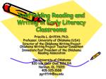 Scaffolding Reading and Writing in Early Literacy Classrooms