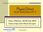 Physio Direct North Staffordshire PCT
