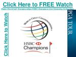 World Golf Championships-HSBC Champions PGA Tour Golf Live S