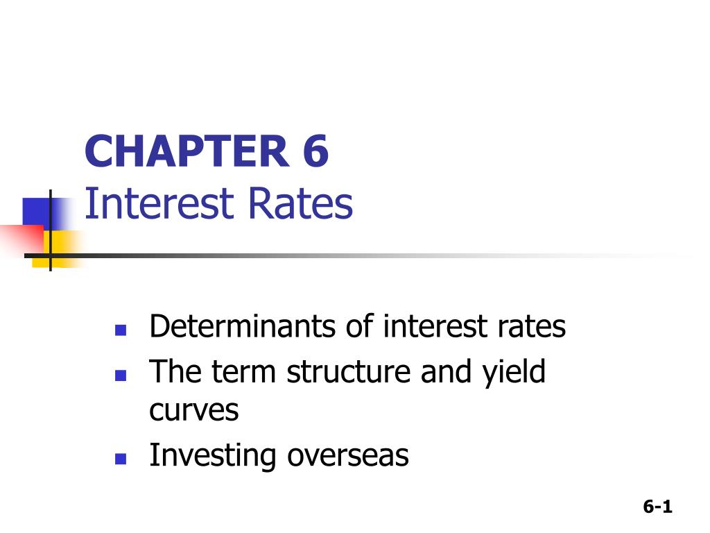 chapter 6 interest rates l.