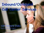 Inbound Call Centers Services India