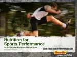 Nutrition for  Sports Performance Your Sports Nutrition Game Plan Canadian Version
