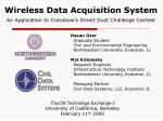 Wireless Data Acquisition System An Application to Crossbow's Smart Dust Challenge Contest