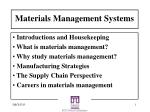 Materials Management Systems