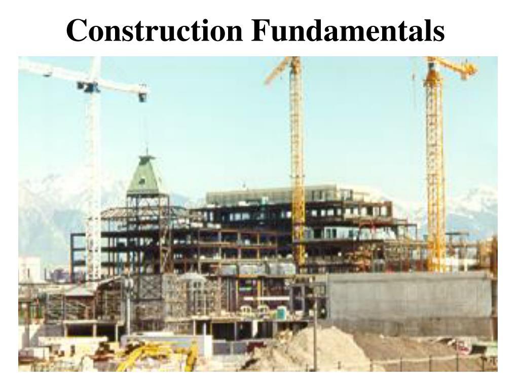 construction fundamentals l.