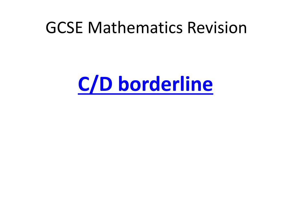 gcse mathematics revision l.