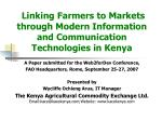 Linking Farmers to Markets through Modern Information and Communication Technologies in Kenya
