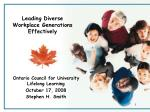 Leading Diverse Workplace Generations Effectively