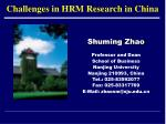 Challenges in HRM Research in China