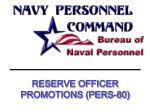 RESERVE OFFICER PROMOTIONS (PERS-80)