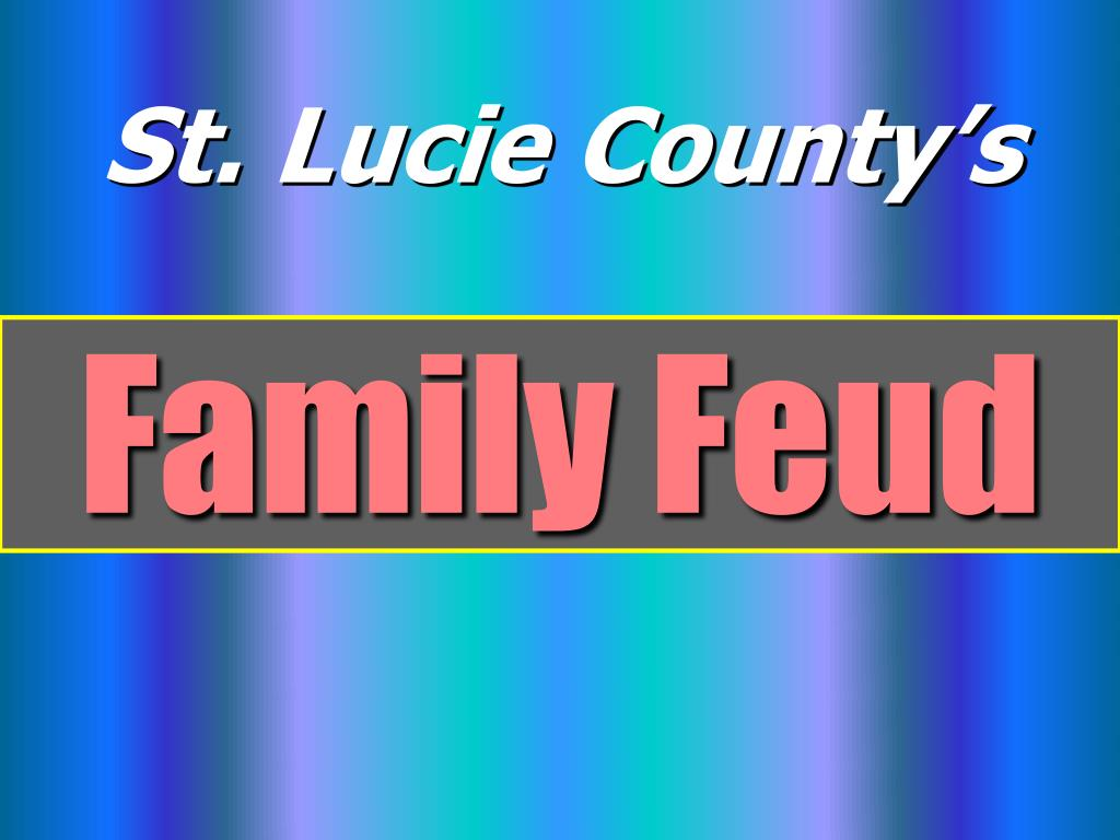 PPT - Family Feud PowerPoint Presentation - ID:330926