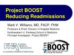 Project BOOST Reducing Readmissions