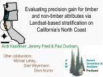 Evaluating precision gain for timber and non-timber attributes via Landsat-based stratification on California's North