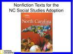 Nonfiction Texts for the NC Social Studies Adoption