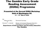 The Gambia Early Grade Reading Assessment (EGRA) Programme
