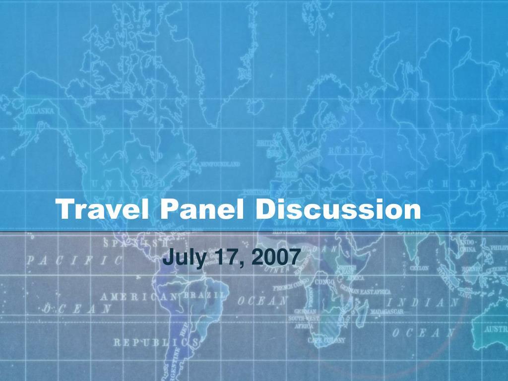 travel panel discussion l.