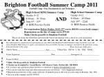 Pre-registration  Before Friday, MAY 27 th  cost is $60.00 (covers both camps) Registration on the day of camp cost is $