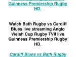 Watch Bath Rugby vs Cardiff Blues live streaming Anglo Welsh