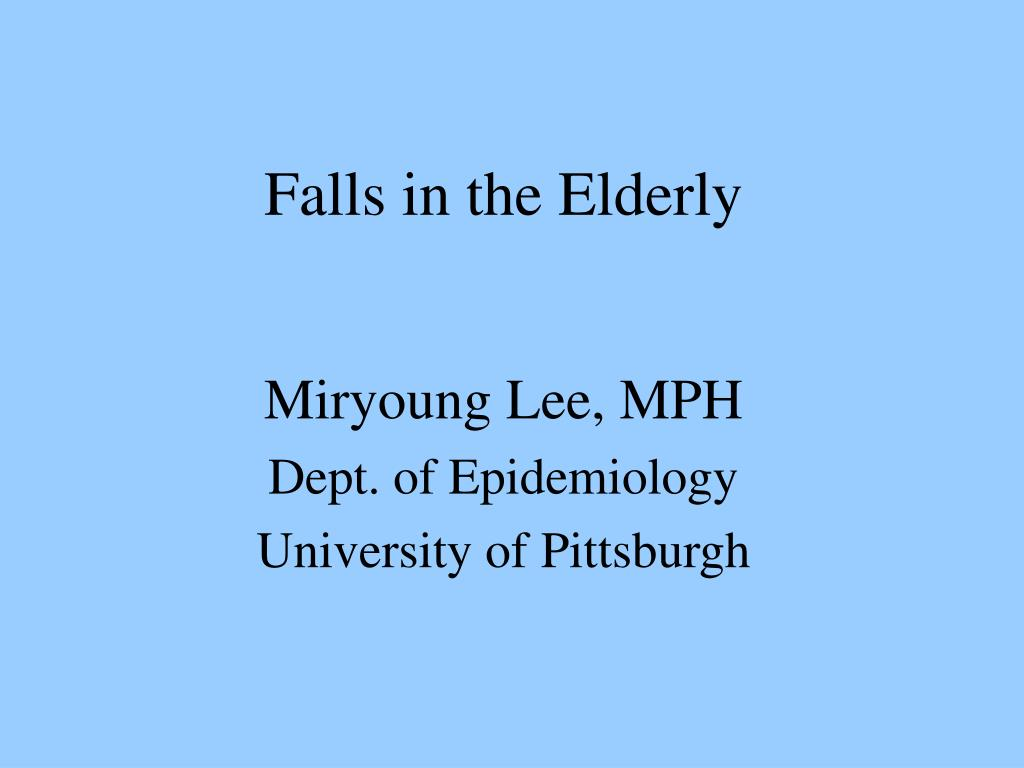 falls in the elderly l.